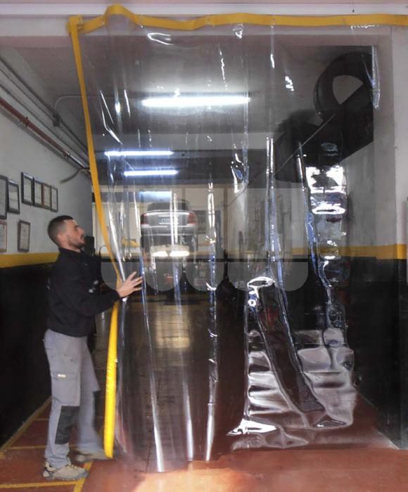 Cortinas transparentes correderas