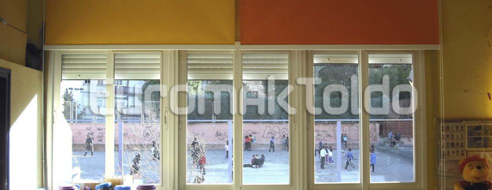 Estores enrollables screen en colegios públicos de Madrid