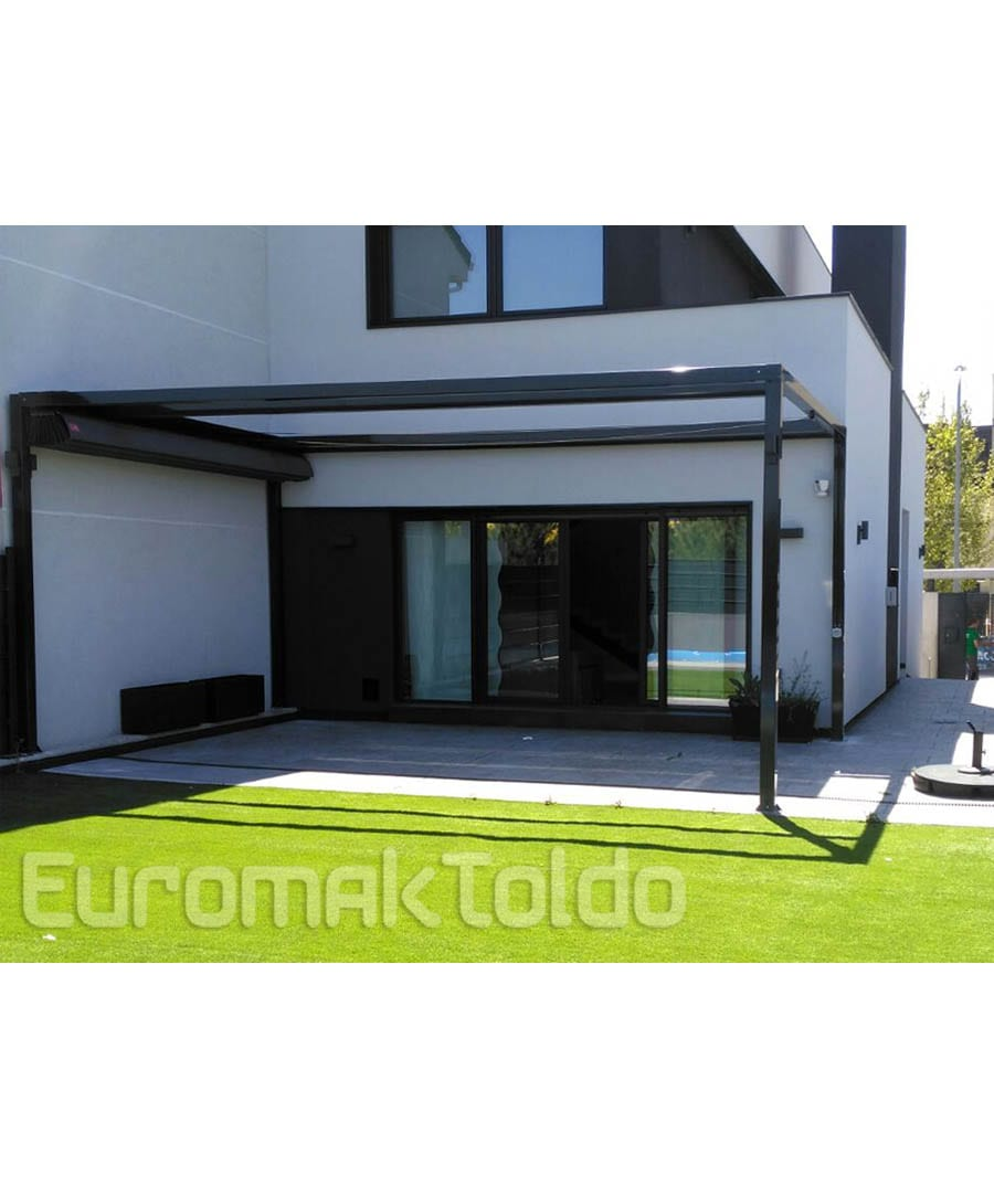 pergolas en aluminio instalacin de pergolas aluminio x y toldos cofre portada motorizados. Black Bedroom Furniture Sets. Home Design Ideas